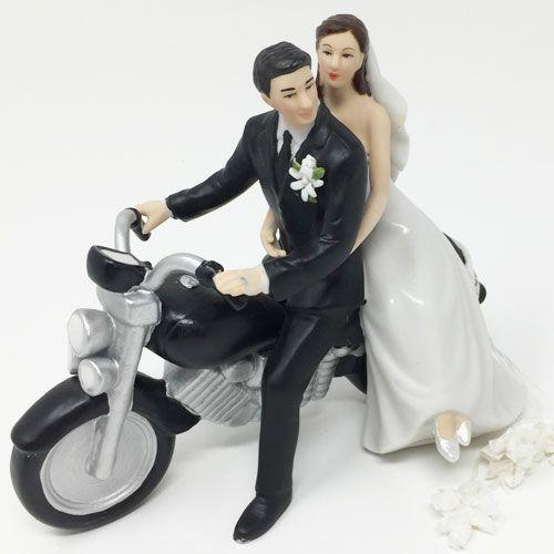 ケーキトッパー オートバイ 髪色変更