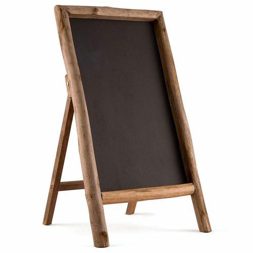 木の枠のついた自立式黒板