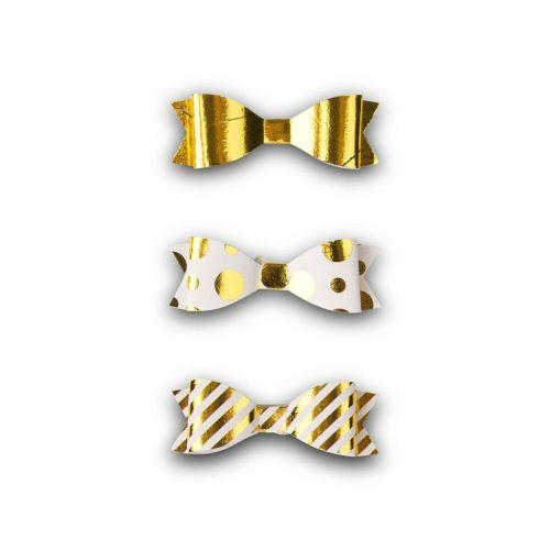 リボン型立体シール ゴールド