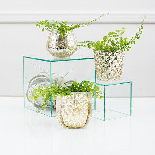 マーキュリーガラス フラワーベース 花瓶