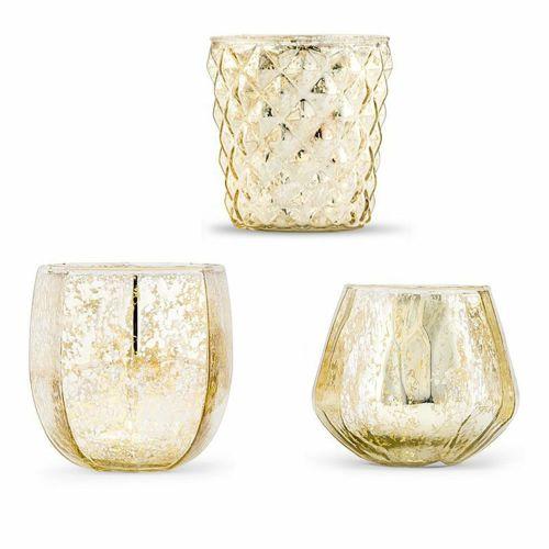 マーキュリーガラス フラワーベース キャンドルホルダー