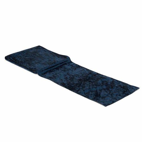 テーブルランナー ベルベット 青