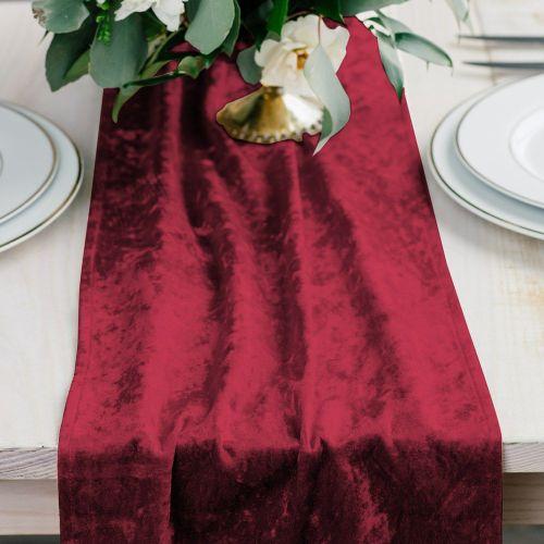 ベルベットのテーブルランナー レッド 赤