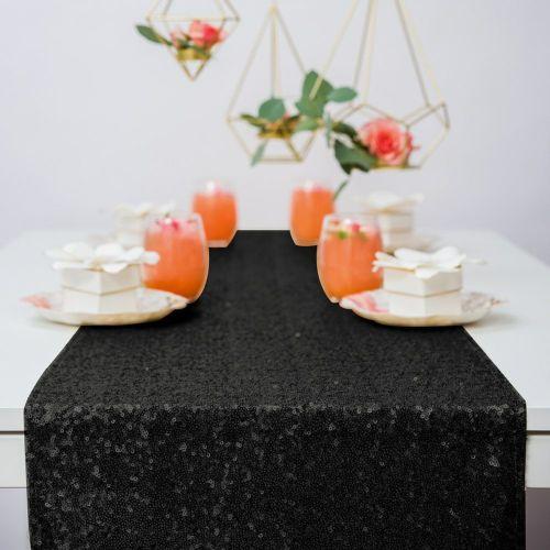 テーブルランナー 黒