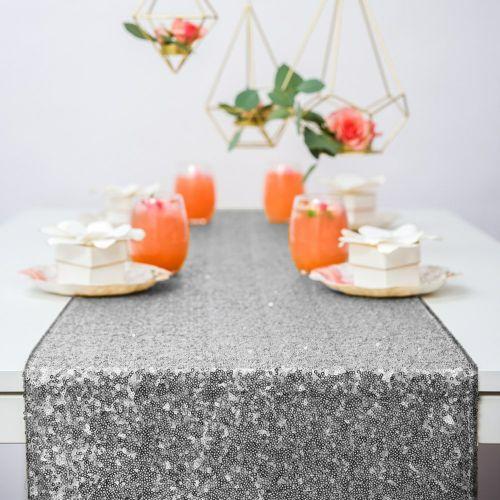テーブルランナー シルバー