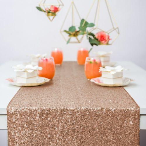 テーブルランナー ピンクゴールド