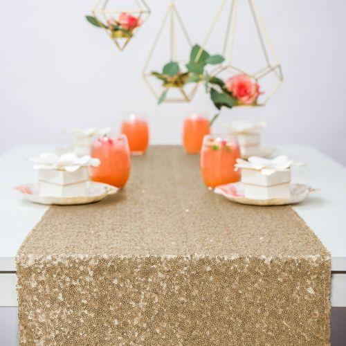 テーブルランナー ゴールド