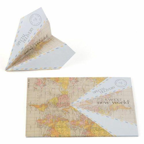 紙飛行機型ゲストブック