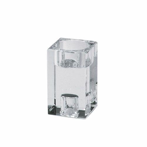 ガラス製キャンドルホルダー クリスタキューブ