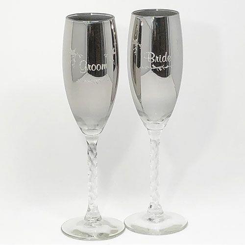 新郎新婦用シャンパングラス