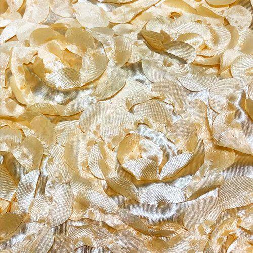 ゴールドの背景布 立体的なゴールドの花