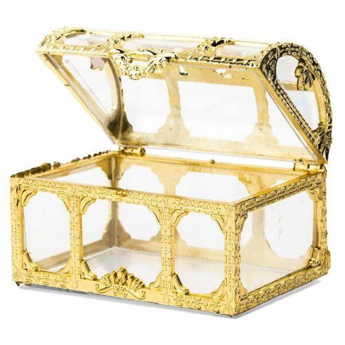 プラスチック容器 チョコレート トリュフ 宝箱 ゴールド